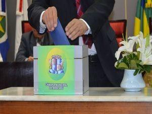 Vereadores votaram e elegeram a mesa diretora da Câmara (Foto: Marina Fontenele/G1 SE)