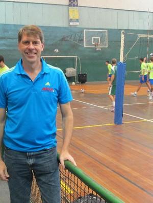 Cidão presidente ANE ANDEE Santos Vôlei (Foto: Bruno Gutierrez / Globoesporte.com)