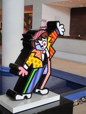 Escultura de Romero Britto (Foto: Mariane Rossi/G1)