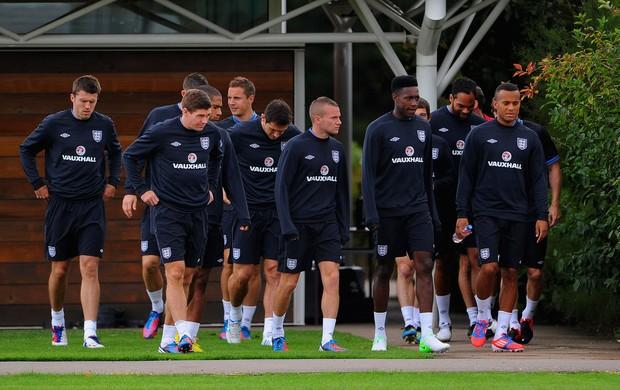 Jogadores Inglaterra treino (Foto: Agência Getty Images)