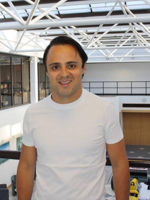 Felipe Massa na fábrica da Williams, sua nova equipe na Fórmula 1 (Foto: Divulgação Williams)