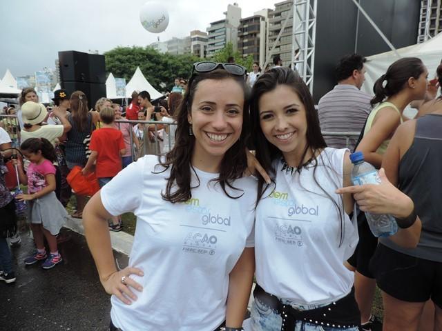 Produtora do Patrola, Lívia Andrade, e a apresentadora Thalita Meneghim (Foto: Géssica Valentini/G1)