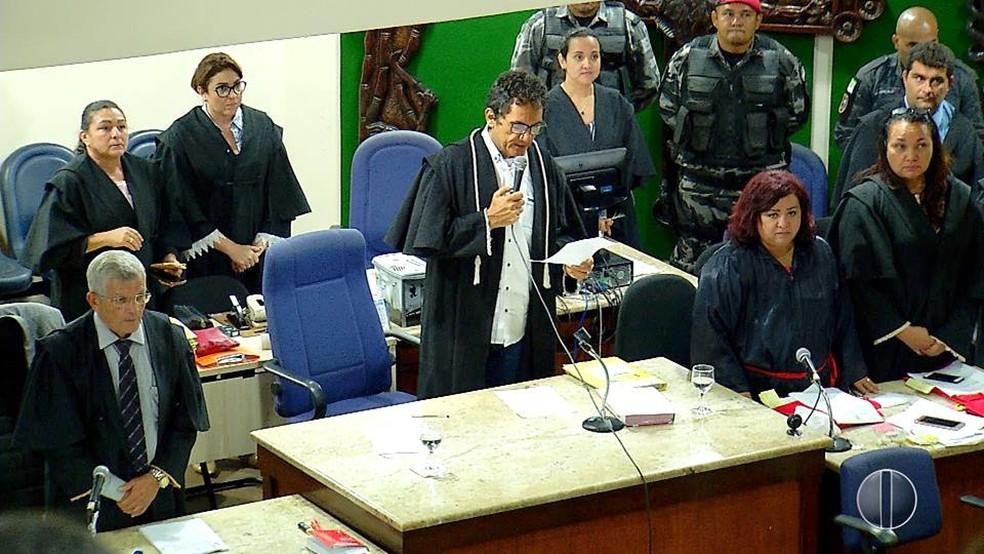 Júri popular aconteceu nesta terça-feira (13) em Natal (Foto: Reprodução/Inter TV Cabugi)