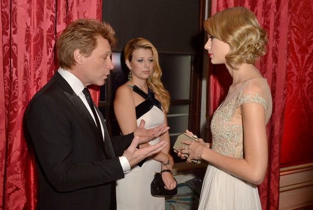 Bon Jovi, Stephanie e Taylor Swift (Foto: AFP / Agência)