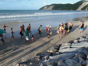 Turistas já estão em Natal para o jogo entre México e Camarões nesta sexta (Foto: Ferreira Neto/GloboEsporte.com)