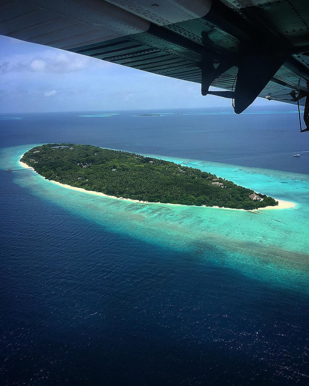 """""""Maldivas. Meu escritório nos próximos dias.... @aguadecocobr ❤️ (Foto: Reprodução/Instagram)"""