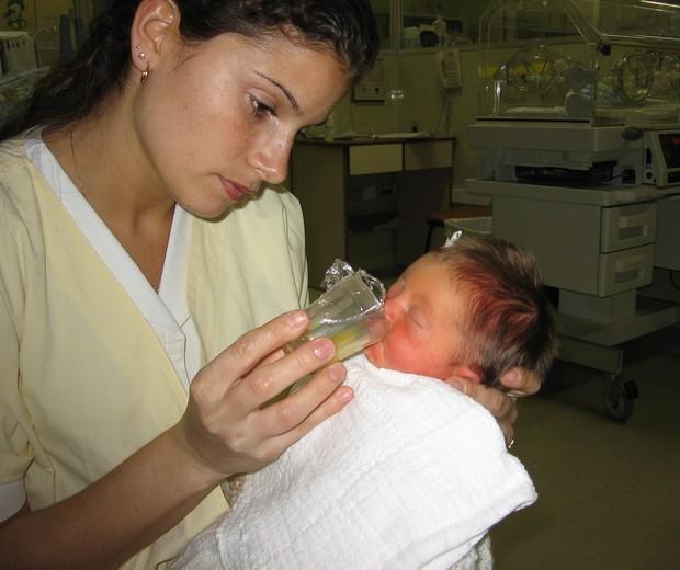 Claudia no CTI com Manoela (Foto: Arquivo pessoal)
