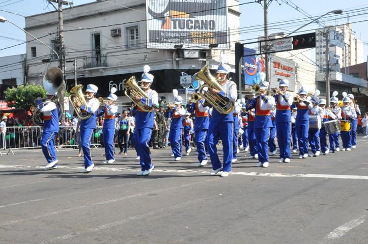 Desfile 7 de setembro em Campo Grande, MS (Foto: Fernando da Mata/G1 MS)