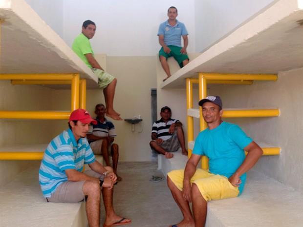 Presos ajudaram a construir o Centro de Detenção de Apodi, no RN (Foto: Felipe Gibson/G1)