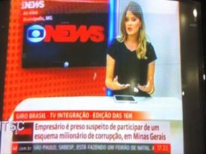 Marcela Mesquita entrou ao vivo no jornal das 16h (Foto: Divulgação)