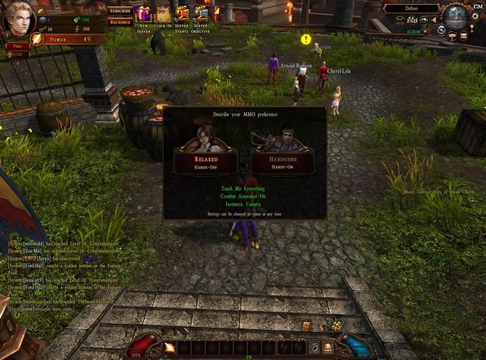 Visando facilitar sua jogabilidade, este MMORPG possui duas modalidades de controle (Foto: Reprodução/Daniel Ribeiro)