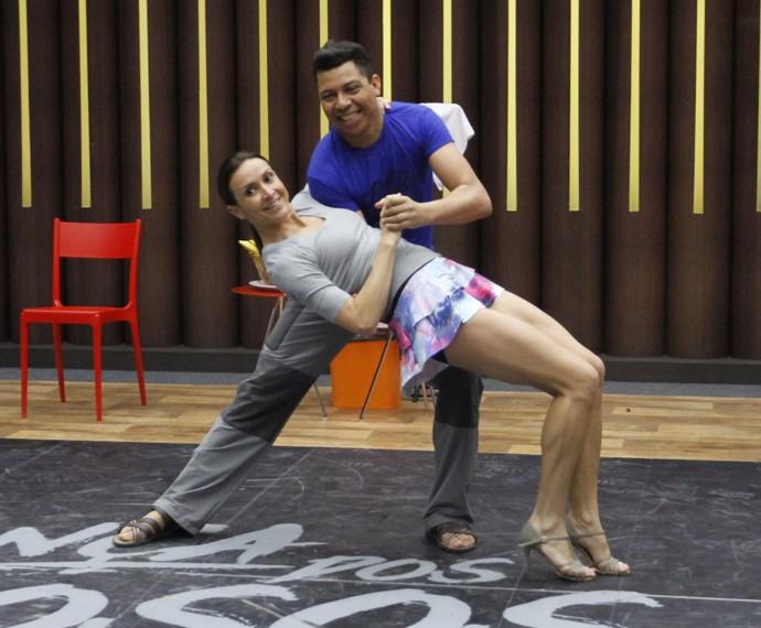Maurren Maggi em ensaio do Dança dos Famosos (Foto: Fabiano Battaglin / Gshow)
