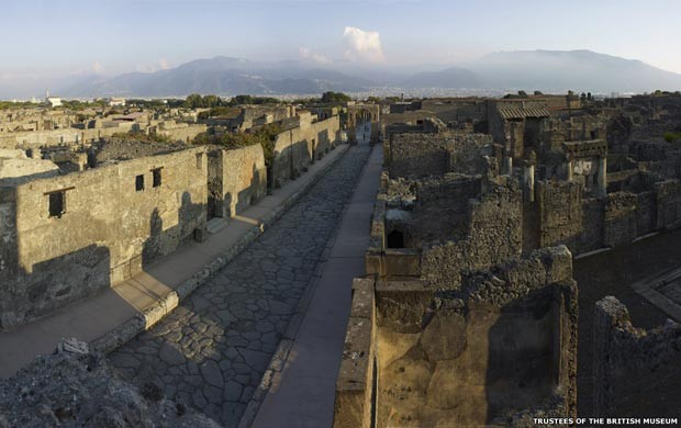 Ruínas romanas de Pompeia (Foto: Soprintendenza Speciale per i Beni Archeologici di Napoli e Pompei /Curadores do British Museum/via BBC)