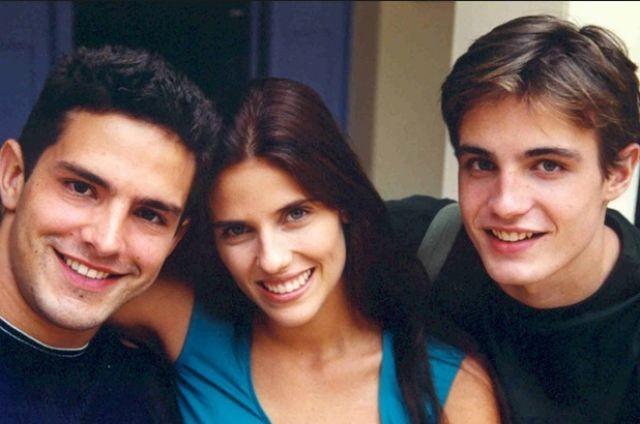 Rafaela Mandelli em 'Malhação' com Iran Malfitano e Max Fercondini (Foto: Reprodução)