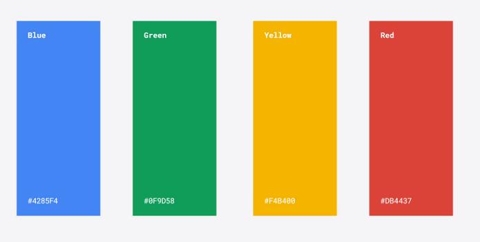 As quatro cores usadas na nova marca (Foto: Divulgação/Google)
