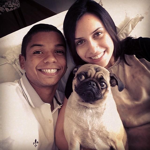 David Braz esposa cachorro