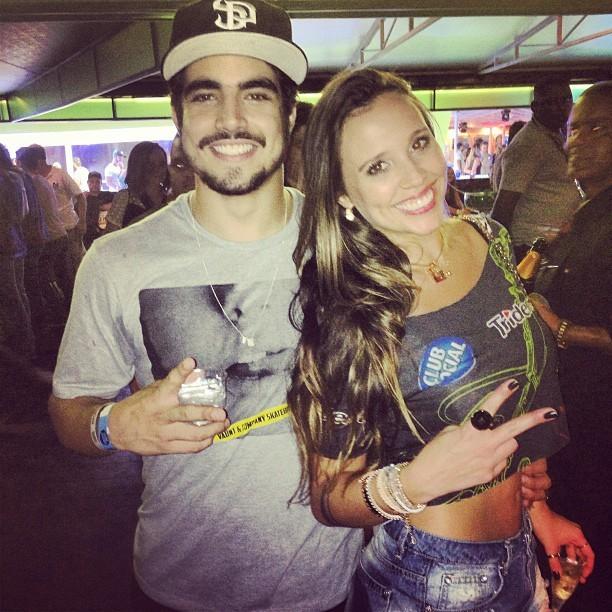 Caio Castro e Angelis Borges (Foto: Instagram / Reprodução)