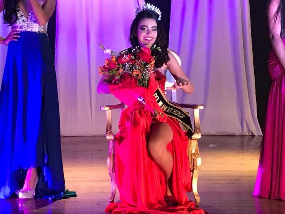 Ana Clara Milani, de 11 anos, participou de concurso no Peru (Foto: Thiago Fagundes/ Divulgação)