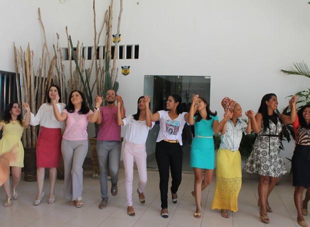 Equipe de Produção participou das gravações de Final de Ano (Foto: Institucional/TV Grande Rio)