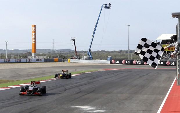 lewis hamilton mclaren Vettel rbr gp dos eua (Foto: Agência Getty Images)