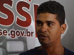 Maurinho nega participação na morte do bebê (Foto: Marina Fontenele/G1)