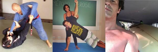 Luciano Szafir faz  jiu-jítsu, pratica ioga no método DeRose e surfa nas horas vagas (Foto: Reprodução do Instagram)