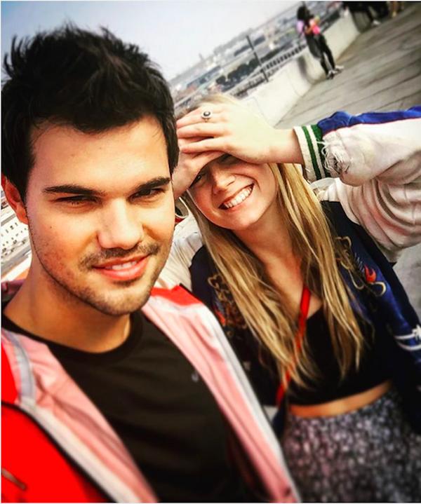 Billie Lourd e Taylor Lautner (Foto: Instagram)