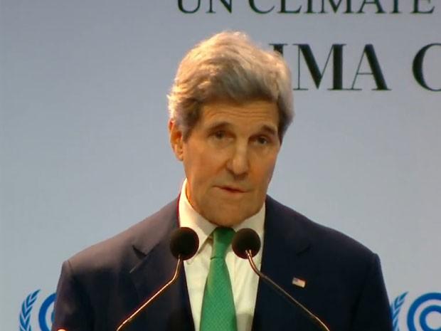 John Kerry discursa na COP 20, em Lima (Foto: Reprodução/UNFCCC)