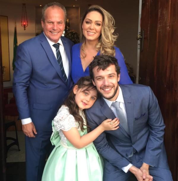Jayme Monjardim; Tânia Mara; Maysa e o noivo (Foto: Reprodução)