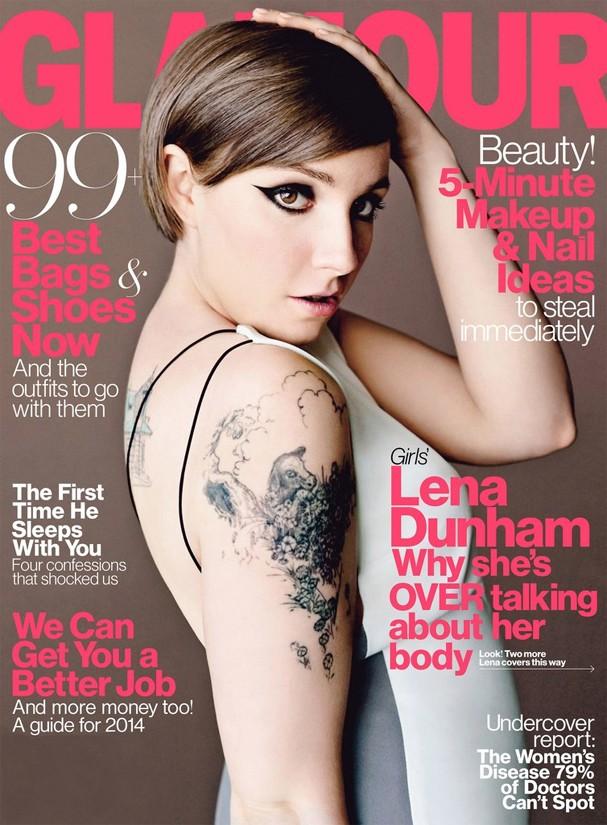 Lena Dunham em capa da Glamour norte-americana (Foto: Reprodução)