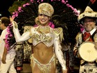 Verônica Araujo, ex de Adriano, usa fantasia de R$ 90 mil na Sapucaí