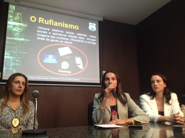 Delegadas falam sobre operação Book Eletrônico realizada em Teresina (Foto: Catarina Costa/G1)