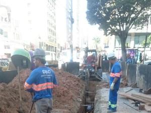 Obras de revitalização da Glicério em Campinas, SP (Foto: Luiz Antonio Aquino/Arquivo pessoal)