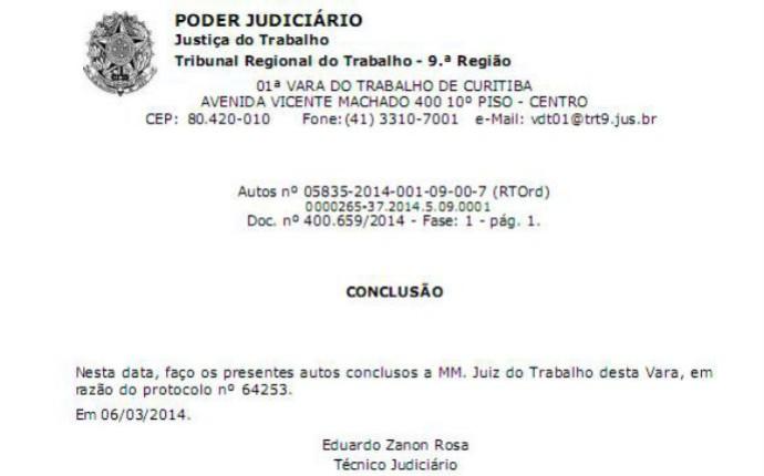 Justiça do Trabalho de Curitiba concede rescisão de Deivid com o Coritiba (Foto: Reprodução)