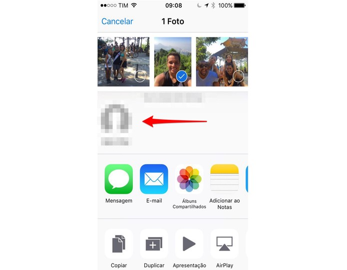 Clique no ícone da pessoa para enviar (Foto: Reprodução/Lucas Mendes) (Foto: Clique no ícone da pessoa para enviar (Foto: Reprodução/Lucas Mendes))