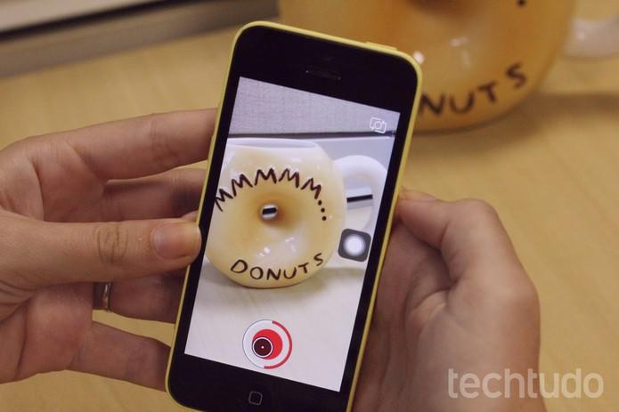 Snapchat sin mano (Foto: Carolina Ochsendorf / TechTudo)