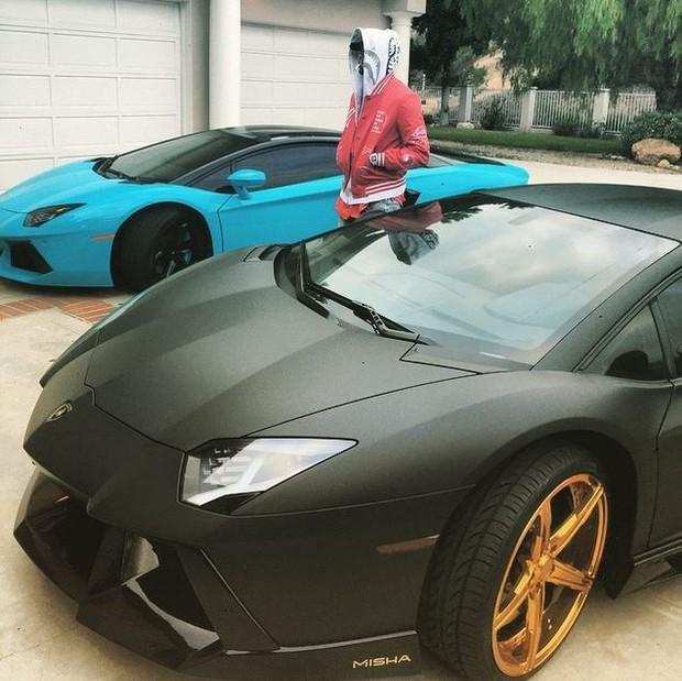 Carros de Chris Brown (Foto: Instagram / Reprodução)