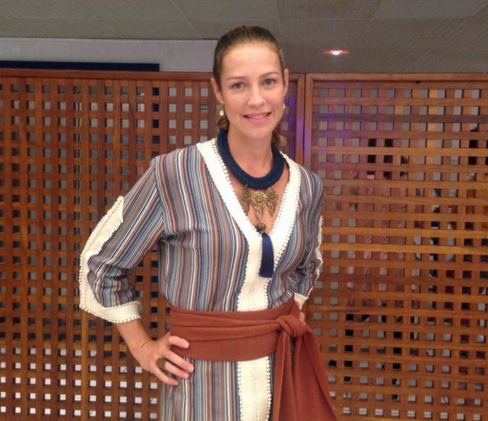 Luana Piovani posa nos bastidores do Caldeirão (Foto: Gabriela Bispo/Gshow)