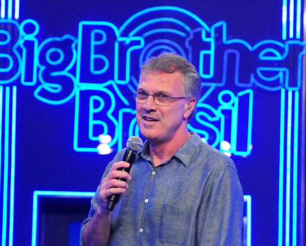 Pedro Bial no BBB 12 (Foto: Divulgação/TV Globo)