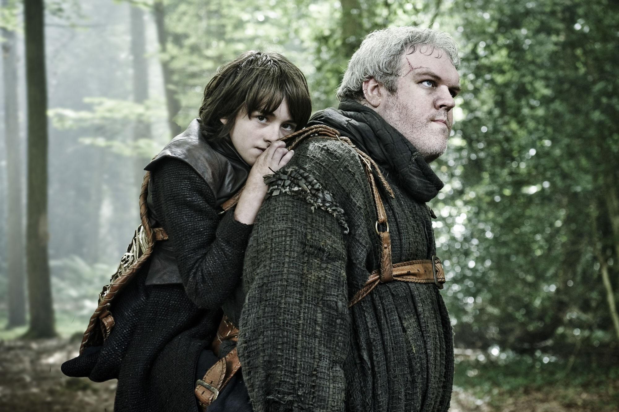 Bran e Hodor em cena de Game of Thrones (Foto: Divulgação)