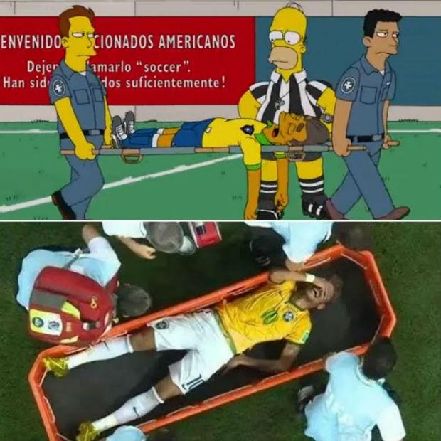 Os Simpsons voltam ao Brasil... Montagemneymar