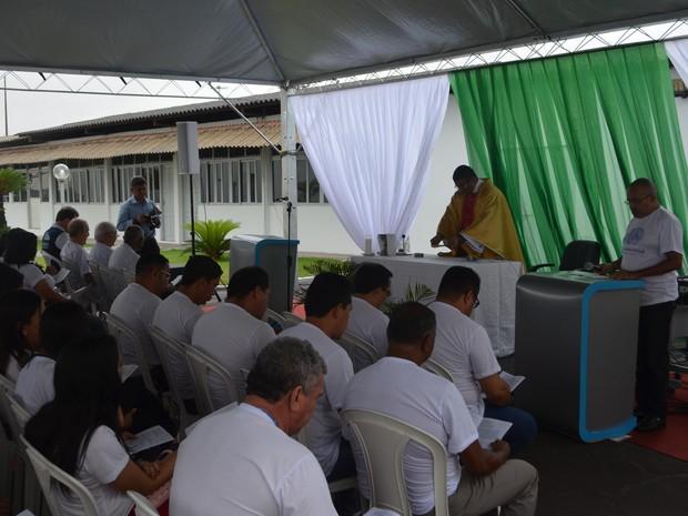 Missa foi realizada na manhã desta sexta-feira (23) no Amapá (Foto: Rodrigo Sales/G1)