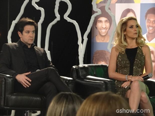Jonas e Pamela ficam chocados com declarações de Megan (Foto: Geração Brasil/TV Globo)