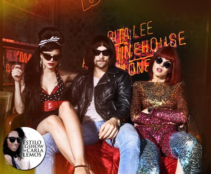 Angel, Giovanna e Leo encarnam rockstars (Foto: Márcio Del Nero/ TV Globo)
