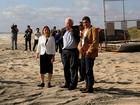 Sanders reitera apoio a imigrantes ilegais em visita à fronteira mexicana