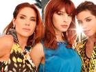 Rafaela Mandelli, Michelle Batista e Juliana Schalch posam para o EGO mostrando looks em animal print