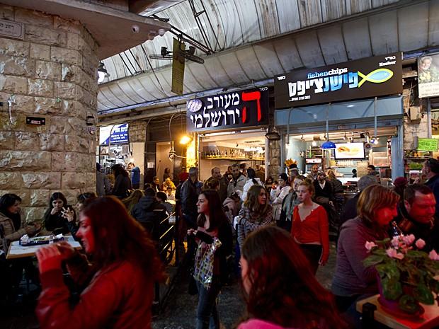 Mercado Mahane Yehuda Jerusalém (Foto: Ariel Schalit/AP)