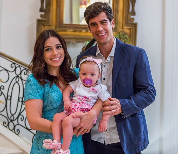 Shirlei e Felipe têm uma filha (Foto: Artur Meninea/Gshow)