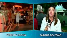 TV Fronteira faz cobertura histórica da passagem da Tocha em Prudente (Reprodução TV Fronteira)