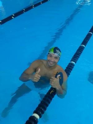 Eliel Oliveia, 'Não descanso nem em dias de jogos do Brasil', diz nadador do AP que vai competir em SP (Foto: Eliel Oliveira/Arquivo Pessoal)